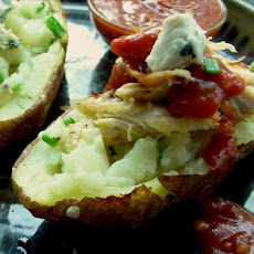 Blue Cheese-Stuffed Potatoes With Buffalo Chicken Tenders