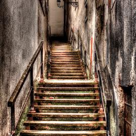 Stairs to Gradec by Hrvoje Kunović - City,  Street & Park  Historic Districts ( upper, hills, stairs, zagreb, gradec )