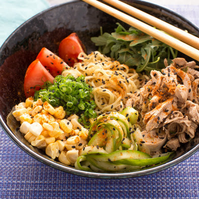 Chicken Hiyashi Chuka with Fresh Ramen Noodles & Summer Vegetables