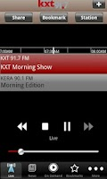 Screenshot of KXT Public Radio App