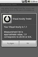 Screenshot of Visual Acuity Tester