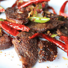 Very Crispy Tongue with Chili Bean Paste and Sichuan Peppercorns