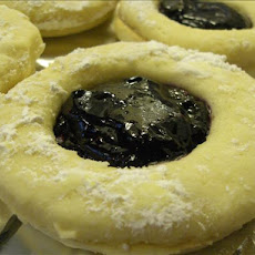 Blueberry Linzer Cookies