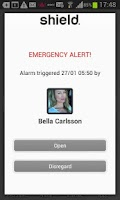 Screenshot of PFO Shield Personal Safety