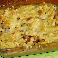 Creamy Baked Penne and Chicken With Mushrooms  (Oamc)