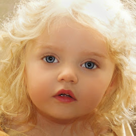 Peyton Looking Like a Doll by Cheryl Korotky - Babies & Children Child Portraits