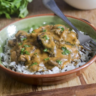Venison Stroganoff With Wild Mushrooms