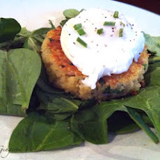 Quinoa Cakes with Poached (or fried) Eggs (Annie's Eats)