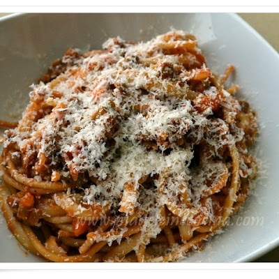 Pasta with Lentils and Ground Beef