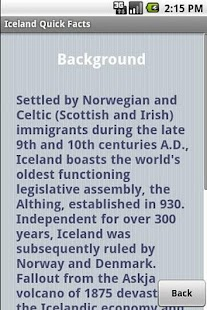 Iceland Quick Facts - screenshot