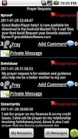 Screenshot of Grace Prayer Requests