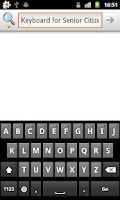 Screenshot of Keyboard for Senior Citizens