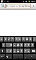 Screenshot of Keyboard for Senior Citizens