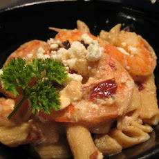 Shrimp and Feta Cheese Pasta