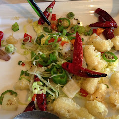 Spicy fried calamari.... Mmmm!  