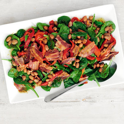 Spinach, Bacon & White Bean Salad