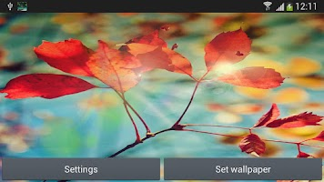 Screenshot of S4 Red Leaf Live Wallpaper