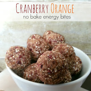 Cranberry Orange Energy Bites