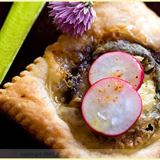 Sainte Maure, Eggplant, Thyme and Honey Tartlets