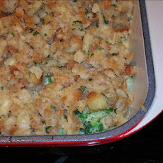Cheesy Broccoli & Stuffing Casserole