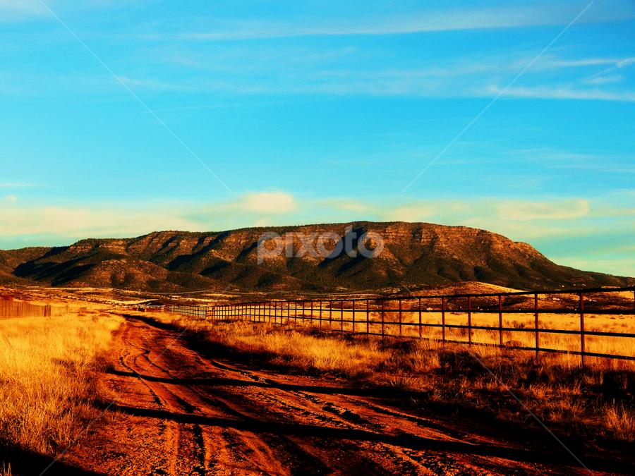 mingus mt by Tim Vree - Landscapes Mountains & Hills ( ranch, yavapai, mountains, arizona, desert )