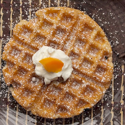 Whole Wheat Waffles with Vanilla Yogurt