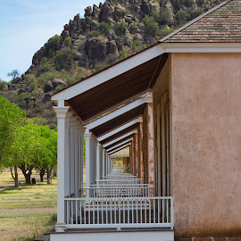 Fort Davis barracks by Philip Arno - Buildings & Architecture Public & Historical