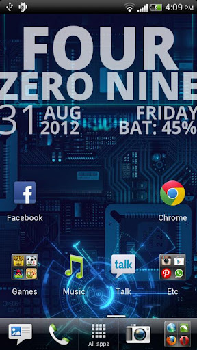 Text Clock Live Wallpaper