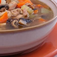 Leftover Turkey Soup Recipe with Double Mushrooms