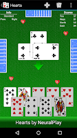 Screenshot of Hearts by NeuralPlay