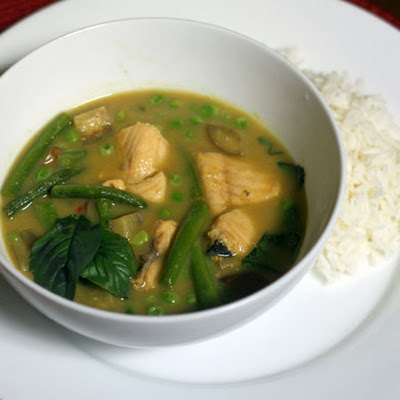 Green Curry With Lake Trout and Green Beans