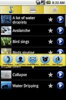 Screenshot of 3D Natural sounds Ringtones