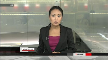 Screenshot of NHK WORLD TV Live