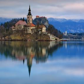 Bled by Matej Kováč - City,  Street & Park  Vistas ( waterscape, slovenia, bled, lake, landscape )