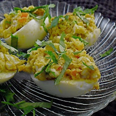 Curry Stuffed Eggs
