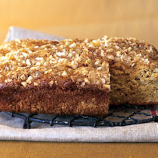 Mango Gingerbread with Macadamia Streusel