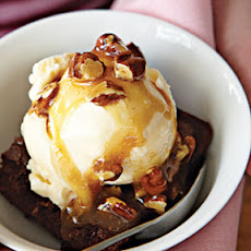 Chocolate Turtle Brownie Sundaes