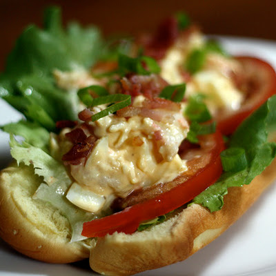 Shrimp and Deviled-Egg Salad Rolls