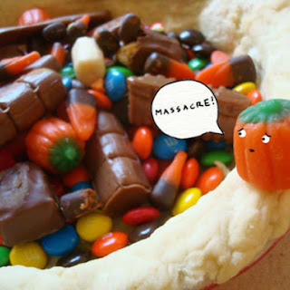 Leftover Halloween Candy Pie