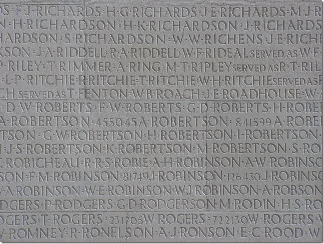 Some of the  11,285 Names