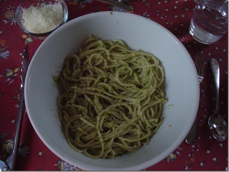 Asparagus Pesto with Spaghetti