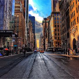 by Winnie Basso - City,  Street & Park  Street Scenes