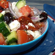 Mediterranean Greek Salad..good for Travel and Good to Eat!