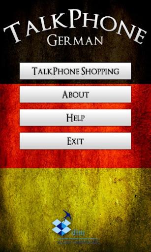 TalkPhone German Shopping