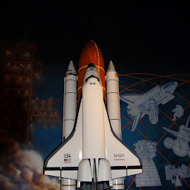 Ready for Takeoff by Susan Fries - Transportation Other ( model, rocket, transportation, musum, space shuttle )