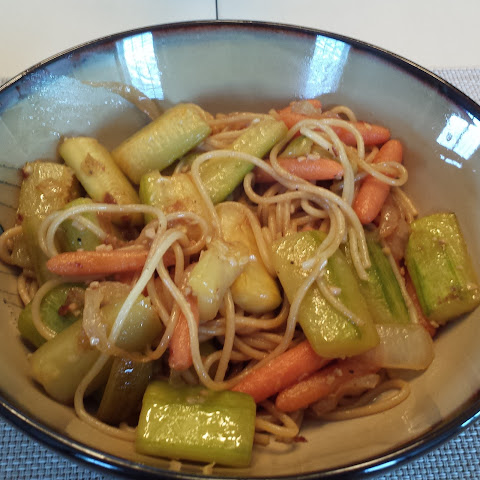 Hibachi Style Veggies and Noodles