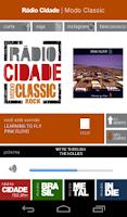 Screenshot of Rádio Cidade