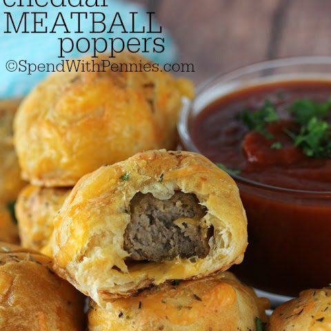Cheddar Meatball Poppers