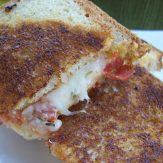 Grilled Pepperoni & Mozzarella Cheese Pizza Sandwich
