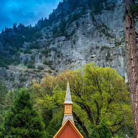 Yosemite Chapel by Jennifer McWhirt - Buildings & Architecture Places of Worship ( photographybyjenmcwhirt.com, california, yosemite national park, chapel, places of worship )